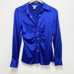 Cache Satin Royal blue Blouse